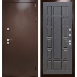 Уличная входная дверь Лабиринт Термо Магнит 12 (Антик медный / Венге)