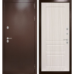 Уличная входная дверь Лабиринт Термо Магнит 3 (Сандал белый)