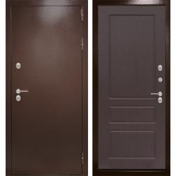 Уличная входная дверь Лабиринт Термо Магнит 3 (Орех премиум)