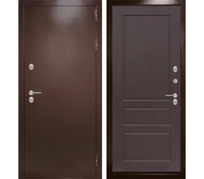 Уличная металлическая дверь Лабиринт Термо Магнит 3 (Антик медный / Орех премиум)