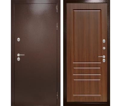 Уличная металлическая дверь Лабиринт Термо Магнит 3 (Антик медный / Орех бренди)