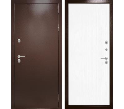 Уличная металлическая дверь Лабиринт Термо Магнит 7 (Антик медный / Белое дерево)