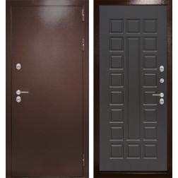 Уличная входная дверь Лабиринт Термо Магнит 4 (Антик медный / Венге)