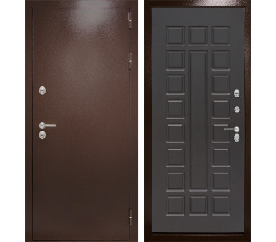 Уличная металлическая дверь Лабиринт Термо Магнит 4 (Антик медный / Венге)