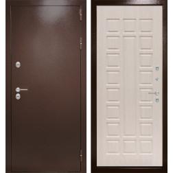 Уличная входная дверь Лабиринт Термо Магнит 4 (Антик медный / Белёный дуб)