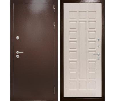 Уличная металлическая дверь Лабиринт Термо Магнит 4 (Антик медный / Белёный дуб)