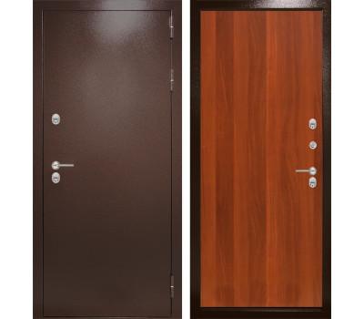 Уличная металлическая дверь Лабиринт Термо Магнит 5 (Антик медный / Итальянский орех)