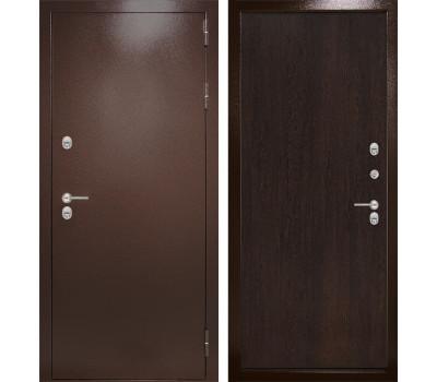 Уличная металлическая дверь Лабиринт Термо Магнит 5 (Антик медный / Венге)