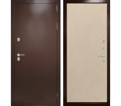 Уличная металлическая дверь Лабиринт Термо Магнит 5 (Антик медный / Венге светлый)