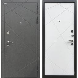 Входная дверь Ратибор Эстет 3К (Штукатурка Графит / Силк Сноу)