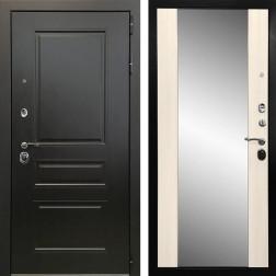 Входная дверь Ратибор Монолит 3К с Зеркалом (Венге / Сандал белый)