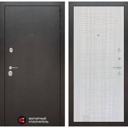Входная дверь Лабиринт Сильвер 6 (Антик темное серебро / Сандал белый)