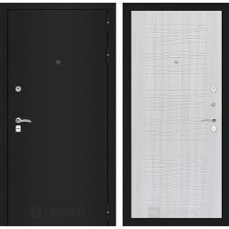 Входная дверь Лабиринт Классик 6 (Шагрень черная / Сандал белый)