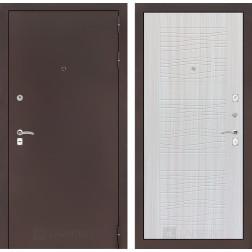 Входная дверь Лабиринт Классик 6 (Антик медный / Сандал белый)