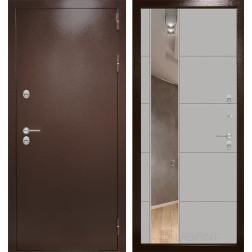 Уличная дверь Лабиринт Термо Магнит 19 Зеркало (Антик медный / Грей софт)