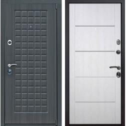 Входная металлическая дверь Мадрид Молдинг (Дуб серый / Белая патина)