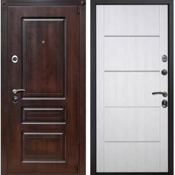 Входная металлическая дверь Неаполь Молдинг (Тёмная вишня / Белая патина)