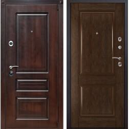 Входная металлическая дверь Неаполь 71 (Вишня тёмная / Каштан)