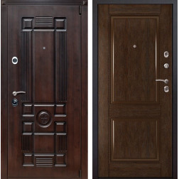 Входная металлическая дверь Рим 71 (Вишня тёмная / Каштан)