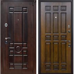 Входная металлическая дверь Рим Палермо (Вишня тёмная / Золотой дуб)