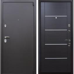Входная металлическая дверь Квадро Молдинг (Искра коричневая / Венге)