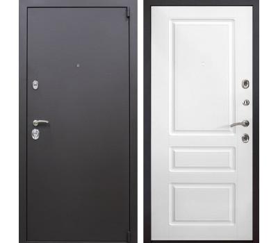 Входная металлическая дверь Квадро Неаполь (Искра коричневая / Белый)