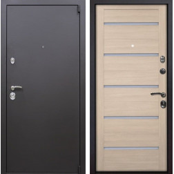 Входная металлическая дверь Квадро X7 (Искра коричневая / Капучино Мелинга)