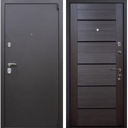 Входная металлическая дверь Квадро X7 (Искра коричневая / Венге Мелинга)