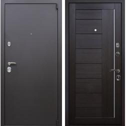 Входная металлическая дверь Квадро X17 (Искра коричневая / Венге Мелинга)