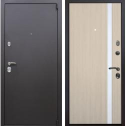 Входная металлическая дверь Квадро Z6 (Искра коричневая / Капучино)