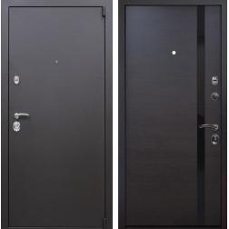 Входная металлическая дверь Квадро Z6 (Искра коричневая / Венге)