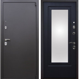 Входная металлическая дверь Квадро Зеркало (Искра коричневая / Венге патина)
