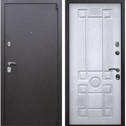 Входная металлическая дверь Квадро Рим (Искра коричневая / Белый с патиной)