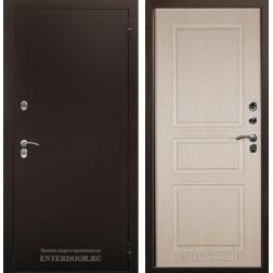 Уличная входная дверь с терморазрывом Аргус Тепло-5 Дуб белёный