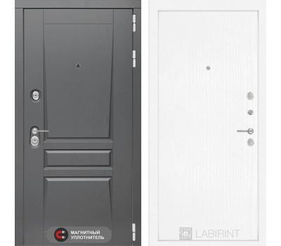 Входная металлическая дверь Лабиринт Платинум 7 (Альберо Грей / Белое дерево)