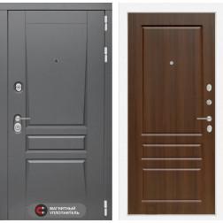 Входная металлическая дверь Лабиринт Платинум 3 (Орех бренди)