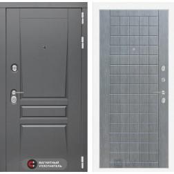 Входная металлическая дверь Лабиринт Платинум 9 (Лен сильвер грей)