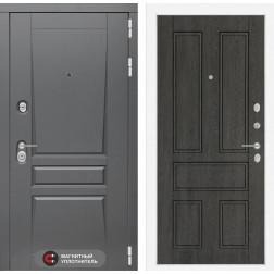 Входная металлическая дверь Лабиринт Платинум 10 (Дуб филадельфия графит)