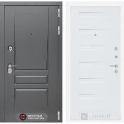 Входная металлическая дверь Лабиринт Платинум 14 (Дуб кантри белый)