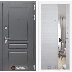 Входная металлическая дверь Лабиринт Платинум Зеркало (Акация светлая)