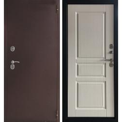 Уличная входная дверь с терморазрывом Аргус Аляска-1 Ясень белый