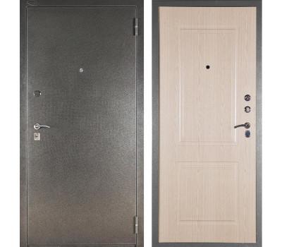 Входная металлическая дверь Аргус ДА-15 Абсолют (Серебро антик / Дуб беленый)