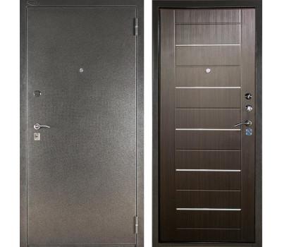 Входная металлическая сейф дверь Аргус ДА-1/2 (Серебро антик / Венге)