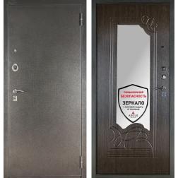 Входная металлическая дверь с зеркалом Аргус ДА-6 (Серебро антик / Венге)