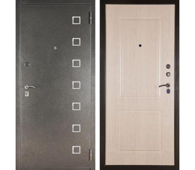 Входная металлическая сейф дверь Аргус ДА-15 Даллас (Серебро антик / Дуб беленый)