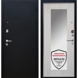 Входная дверь Аргус Люкс ПРО Милли с Зеркалом (Чёрный шелк / Ларче светлый)