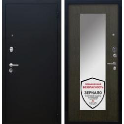 Входная дверь Аргус Люкс ПРО Милли с Зеркалом (Черный шелк / Венге)