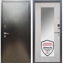 Входная дверь Аргус Люкс ПРО Милли с Зеркалом (Серебро антик / Ларче светлый)