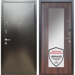 Входная дверь Аргус Люкс ПРО Милли с Зеркалом (Серебро антик / Коньяк калифорния)