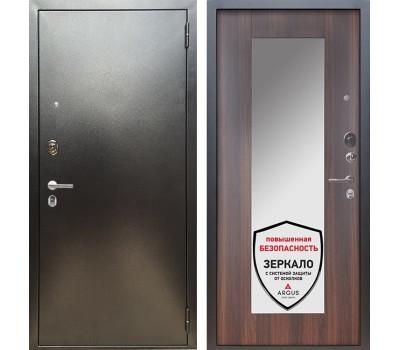 Входная металлическая дверь Аргус Люкс ПРО Милли с Зеркалом (Серебро антик / Коньяк калифорния)